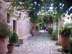 #Arkadi monastery, #Rethymno, #Crete, #pass2greece Crete, Patio, Places, Outdoor Decor, Terrace, Porch, Lugares, Courtyards