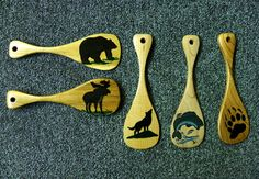 "Hand Painted, 5"" canoe paddle key chains by Doug Wilkie  www.aframestudios.ca Key Chains, Canoe, Paddle, Hand Painted, Painting, Art, Art Background, Key Fobs, Keychains"