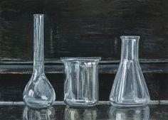три стеклянные баночки. 17,5х13 мдф, масло