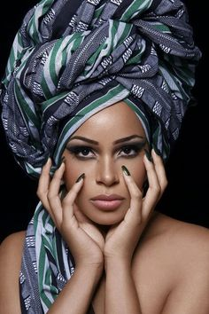 head wrap ~Latest African Fashion, African Prints, African fashion styles, African clothing, Nigerian style, Ghanaian fashion, African women dresses, African Bags, African shoes, Nigerian fashion, Ankara, Kitenge, Aso okè, Kenté, brocade. ~DK