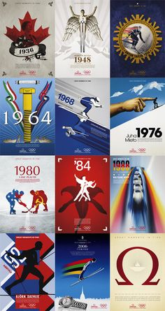Winter Olympic Games Torino 2006 by Dario Nucci, via Behance