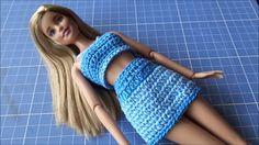 Mini Saia em crochê para Barbie