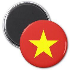 Shop Flag of Vietnam - Quốc kỳ Việt Nam Magnet created by RevZazzle.