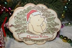 Winnie the Pooh Christmas Gift Tags  Christmas by ShabbyPeaDesigns, $6.95