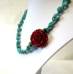 Chunky Turquoise Blue Stone Day of The Dead by sweetie2sweetie, $29.99