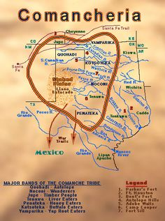 Staked Plains & Palo Duro Canyon Then & Now Native American Map, Native American Artifacts, American Indians, American Women, Comanche Indians, Plains Indians, Republic Of Texas, Indian Tribes, American Frontier