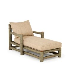 Rustic+Chaise+#1250+shown+in+Sage+Premium+Finish+(on+Bark)