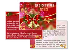 Glad Christmas Tidings Powerpoint Template