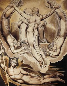 Christ as the Redeemer of Man by William Blake, Watercolor on paper