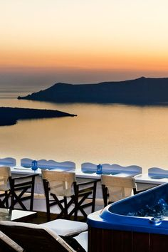 Santorini, Greece, Fira Sunset