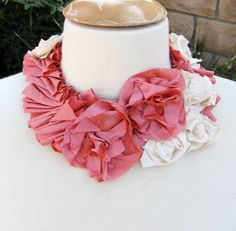 Silk Flower Necklace  DIY -FRONT