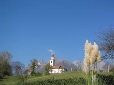 ..c'e' una chiesetta alpina dove rintocca una cam....... Belluno , Sopracroda (on the rock) - Dolomites, province of Belluno, Veneto, Northern Italy