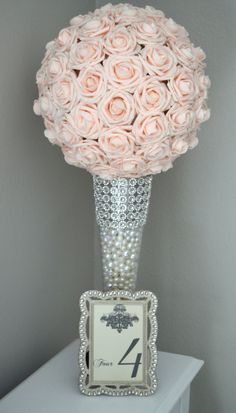New Diy Wedding Centerpieces Blush Flower Ball 59 Ideas Wedding Vases, Bling Wedding, Diy Wedding, Wedding Decorations, Wedding Ideas, Church Decorations, Paris Wedding, Trendy Wedding, Wedding Inspiration