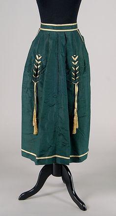 Apron Date: ca. 1865 Culture: American Medium: Silk