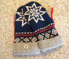 Margo's Marvelous Sweater Mittens Fair Isle by CherryCreekNV