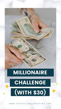 Best beginner money challege to become a millionaire! This money challenge will help you invest money to become a millionaire! Live On Less, Investing Apps, Money Challenge, Wealth Affirmations, Survey Sites, Become A Millionaire, Budgeting Money, Finance Tips, Money Management