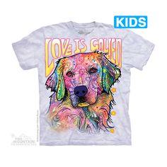 The Mountain Love is Golden Kids T-Shirt