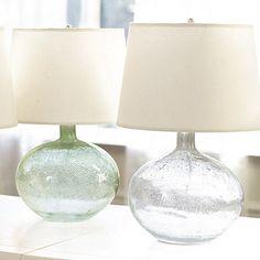 Malia Seeded Glass Lamp