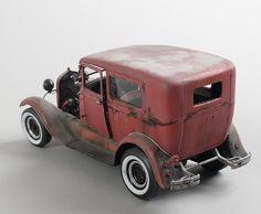 "1929 Ford model ""A"" Tudor, 1/25 scale. By Adam Grabowski. #model_cars #scale_model"