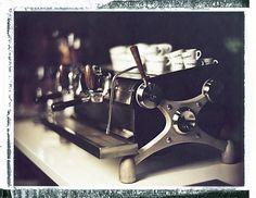 Slayer espresso, polaroid, analog, photography, film, speed graphic, 4x5, medium format, tilt shift, coffee, espresso, Fratello Coffee
