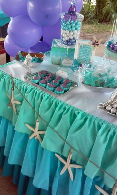 Mermaid Birthday Party Ideas | Photo 7 of 57 | Catch My Party