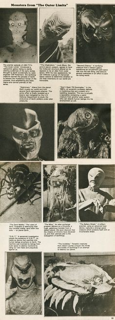"""""""Monsters of the Outer Limits"""" from The Space Monster Book, Monster Fantasy #3"""