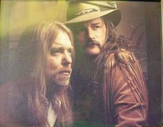 A great portrait of Gregg Allman and Dickey Betts. 1991. #allmanbrothers…