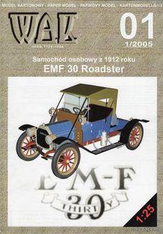 EMF 30 Roadster (WAK 1/2005) из бумаги, модели бумажные скачать бесплатно - Легковая машина - Гражданская техника - Каталог моделей - «Только бумага»