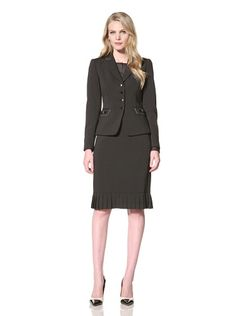 68% OFF Tahari by ASL Women\'s Skirt Suit (Black/White)