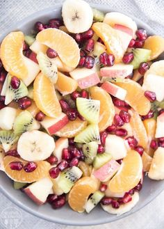 Winter fruit salad is loaded full of delicious winter fruits, like oranges, kiwi, pomegranates, and is perfect for a holiday party or dinner side dish. Pin this winter fruit salad for later! This fruit salad is packed full of 5 different winter ready fruits, with mandarin oranges, crisp apples, banana, crunchy pomegranate arils and kiwi....Read More »