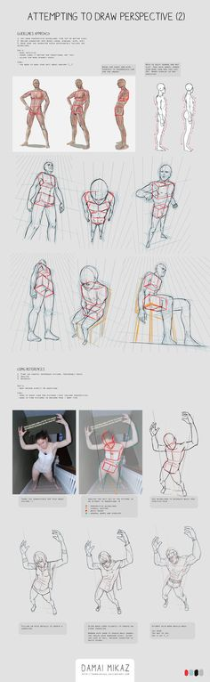 This is by no means a comprehensive tutorial. These are my personal notes on studying how to draw humans in perspective. I share my studies and resources so it might perhaps help ou...