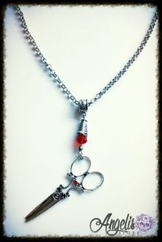Vintage Tailoring Scissors Necklace Scissor Necklace, Scissors, Necklaces, Pendant Necklace, Silver, Stuff To Buy, Vintage, Jewelry, Jewlery