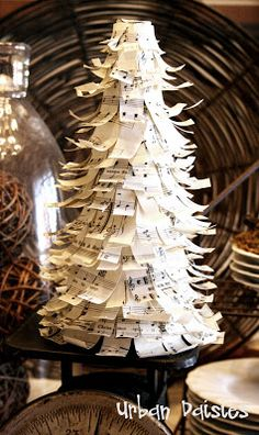 Urban Daisies: Music Sheet Christmas Tree Tutorial
