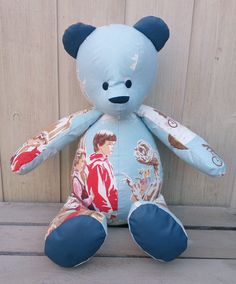 Bespoke Memory bears custom made to order from garments with special memories.Retro Bears are individually handmade using resourced & original vintage fabrics Vintage Fabrics, Uk Shop, Bespoke, Bears, Teddy Bear, Toys, Handmade, Character, Animals