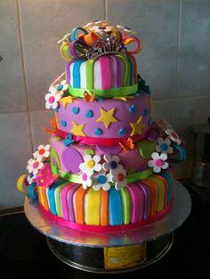 BRIGHT AND BOLD  Birthday Cake