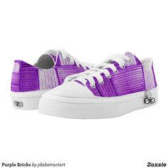 Purple Bricks Printed Shoes