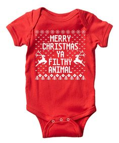 Red 'Filthy Animal' Bodysuit - Infant