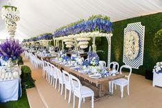 Modern Floral Design at Outdoor Reception | Photography: Samuel Lippke. Read More: http://www.insideweddings.com/biz/revelry-event-designers-los-angeles/8690/