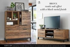 Buy Bronx Wide TV Unit from the Next UK online shop Corner Tv Unit, Drinks Cabinet, Sideboard, Living Room Furniture, New Homes, Uk Online, The Unit, Interior Design, Room Ideas