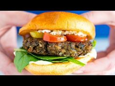 This is the best veggie burger recipe! How to make meatless burgers that are hearty, flavorful and full of vegetables grams of fiber and just over 200 calories). Ultimate Veggie Burger Recipe, Homemade Veggie Burgers, Best Veggie Burger, Meatless Burgers, Burger Mix, Bean Burger, Burger Recipes, Vegetarian Recipes, Burger Ideas