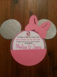 Silver & Pink Minnie invite