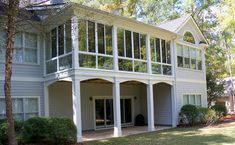Patio Enclosures Second Story Sunroom - traditional - exterior - atlanta - Patio Enclosures by Great Day Improvements, LLC