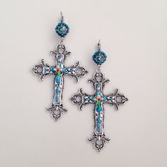 Dolce and Gabbana Inspired  Large Ornate Silver Cross by bohoblvd