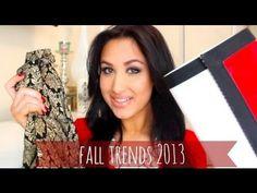 Fall 2013 Fashion Trends!