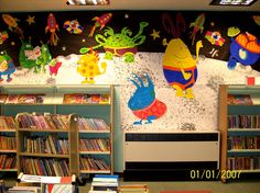 "Biggleswade Library's ""Aliens Love Underpants"" display. Bedfordshire Libraries"