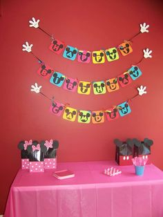 Mickey Mouse Clubhouse or Minnie Mouse Birthday Party Ideas | Photo 3 of 15 | Catch My Party
