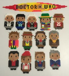 Doctors -  Doctor Who perler bead collection by Terri Mitchell