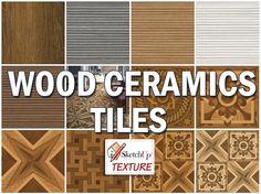 WOOD CERAMICS TILES COLLECTIONhttp://www.sketchuptexture.com/p/texture-tiles.html