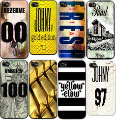 iPhone Case-Big Johny Size: 4 4s 5 5s 6 6  transparentny case- REZERVE 00- Johny 97 (gold)- STAY fresh- Paint Heroes- AMERICA 1oo- Gold golder 97- YELLOW CLAW-Johny 97 python (white)