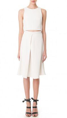 Mika Jacquard Pleated Skirt